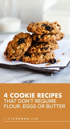 These eggless cookies without butter or flour are healthy, delicious and easy to make. Try these cookie recipes when you have minimal ingredients on hand. Flourless Peanut Butter Cookies, Flourless Chocolate Cakes, Peanut Butter Cookie Recipe, Cookie Recipes, Dessert Recipes, Healthy Desserts, Easy Desserts, Healthy Recipes, Dairy Free Cookies