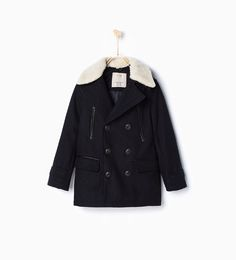 Image 1 of Double breasted 3/1 length coat from Zara