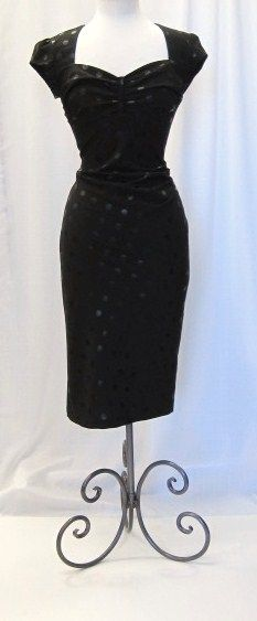 Stop Staring! Doll Face Black Fitted Dress! Love so much!