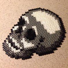 Skull hama beads by logooch