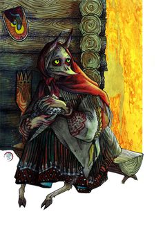 """Kikimora (rus. Кикимора) — perhaps one of the most popular representative of the demons in Russian folklore, one of the household spirits. All the """"unholy"""" children — the ones who died before baptism, cursed by their parents, etc — were believed to become kikimoras after death."""