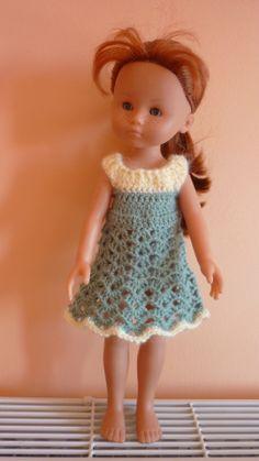 Robe crochet pour poupée chérie de Corolle