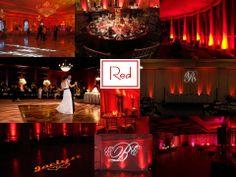 Red Up Lighting Sampler by www.AllThatEvents.com (978) 204-7364