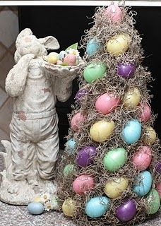 Easter egg topiary @ lovelaughteranddecor.blogspot.com