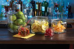 These trendy Square Glass Jars work at the front or back-of-the-house, at the bar... you can even serve drinks in them!