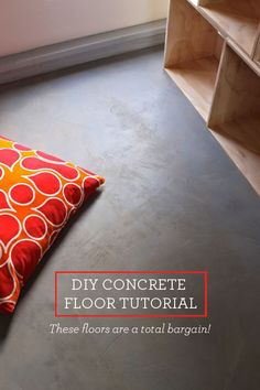 Photos and text by Gabrielle. I'm pleased as punch to tell you about the concrete floor experiment that we tried in the reading loft of The Treehouse. I love how it turned out! The texture is wonderfu