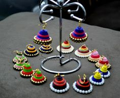 paper quilled earrings or jhumkas