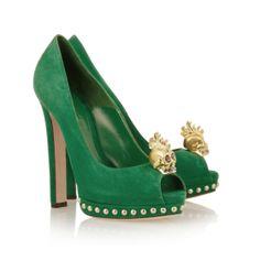 Alexander McQueen Emerald Pumps.