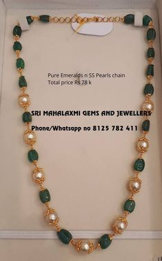 Pearl Necklace Designs, Beaded Jewelry Designs, Gold Earrings Designs, Gold Designs, Gold Wedding Jewelry, Gold Jewelry Simple, Gold Mangalsutra Designs, Kids Necklace, Necklace Set