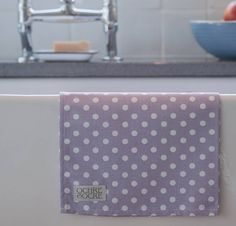 polka dot tea towel by ochre & ocre   notonthehighstreet.com