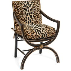 John-Richard Collection Macayla Mirrored Leopard-Print Armchair (2 270 AUD) ❤ liked on Polyvore featuring home, furniture, chairs, accent chairs, leopard, john richard furniture, handmade furniture, eglomise furniture, handcrafted furniture and leopard chair