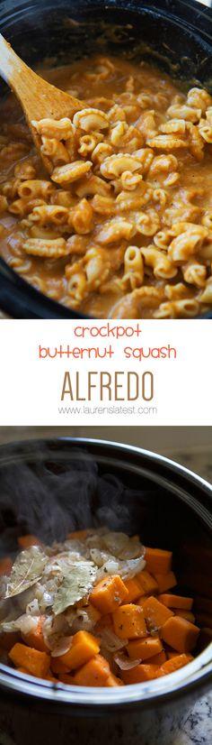 Crockpot Butternut squash collage