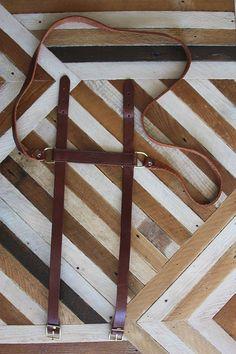 Vintage Leather Blanket Strap. $44.00, via Etsy.
