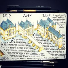JMP Sketchbook / Facts about Chenonceau Castle : details of the construction #chenonceau #loirevalley #castle #draw #drawing #illustration #sketch #sketchbook #travelsketch #urbansketch #urban #architecture #carnetdevoyage #art #painting #artwork #aquarelle #watercolor #arts_help #arts_gallery #arts_spotlight #inspiring_watercolors #architectureporn #archidaily #art_we_inspire #archilovers #drawingoftheday #handdrawn #architecturesketch