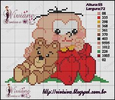Viviane Pontos e Art's Hama Beads, Cross Stitch Patterns, Diy And Crafts, Teddy Bear, Anime, Quilts, Fictional Characters, Buzz Lightyear, Inspirational