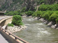 I70 Colorado Glenwood Canyon Highway Colorado River