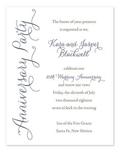 45th Wedding Anniversary Invite