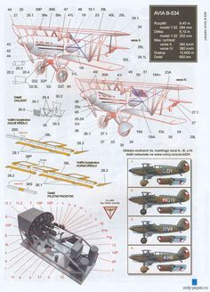 Аvia b 534 (АВС (!) paper model, maybe good for RC conversion. Rc Model, 3d Max, Model Airplanes, Paper Models, Exploded View, Hobbies, Aircraft, Paper Crafts, Cutaway