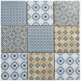 "Found it at Wayfair - Hedwig 3.88"" x 3.88"" Porcelain Mosaic Tile in White and Blue"