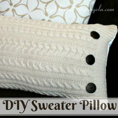 Simply Beautiful by Angela: DIY Sweater Pillow