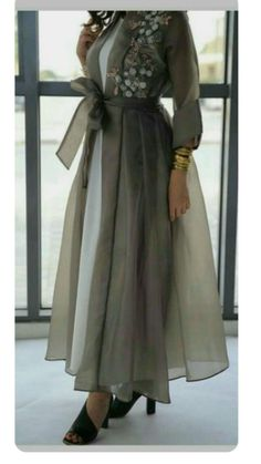 I tried it was nice - Dresses Pin 👗 Hijab Evening Dress, Hijab Dress Party, Hijab Style Dress, Abaya Fashion, Muslim Fashion, Modest Fashion, Fashion Dresses, Modest Dresses, Modest Outfits