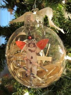 Captured Fairy Ornament OOAK Handmade Fairy by flutterbeforeyou, $8.00