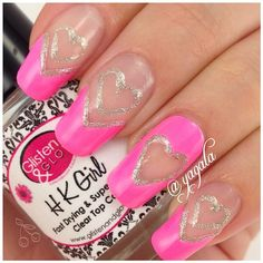 pink & silver hearts
