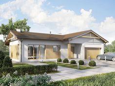 DOM.PL™ - Projekt domu SD Ponza CE - DOM SD2-01 - gotowy koszt budowy Modern Villa Design, House Blueprints, Small House Plans, Pergola, Outdoor Structures, House Design, How To Plan, Outdoor Decor, Houses