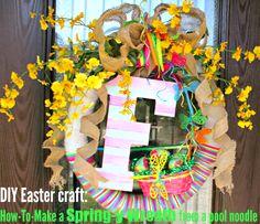 DIY Easter craft: Spring wreath tutorial