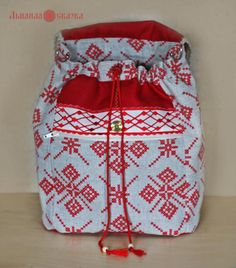 How to sew a pretty bag in russian style? Simple step by step tutorial!