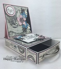 CraftsByHappyStamper.com; Stampin Up, Easel Box, Typeset, Botanical Builders, Feels Good, Endless Thanks