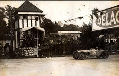 Robert Sénéchal (Delage) winning the inaugural British Grand Prix at Brooklands on 7th August 1926