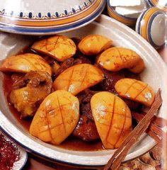 المطبخ العالمي: طاجين السفرجل باللحم المغربي.