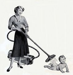 Clipped from a Hoover vacuum cleaner ad in the March 27, 1950 issue of Life magazine.: http://www.flickr.com/photos/clotho98/3755311869/in/pool-1062380@N24