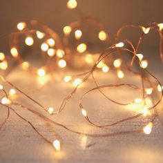 Seed lights copper wire 5m - Beautiful seed lights are so timeless and look great around a window frame or inside a vase.