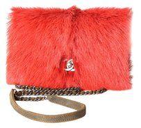Chanel Mink Fur Brown Aged Cross Body Bag