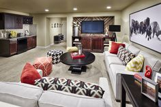 The Monaco - Ranch-style Villa home lower level recreation room