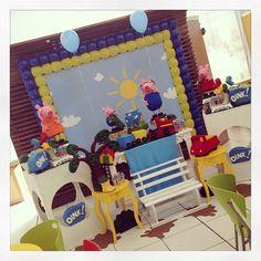 Hoje também foi dia de festa para o Paulo Roberto que comemorou seus 4 anos com o George, a Peppa e sua família, no Dia Feliz! #peppapig #festamenino #georgepig #ratchimbum #novaodessa