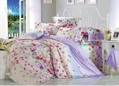 #Country #Sets #Colorful Country Style 4 Piece Colorful Floral Active Print Comforter Sets with Cotton