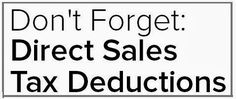 In direct sales? Don't forget all the tax deductions you can make!  https://www.facebook.com/amber.misek.nails