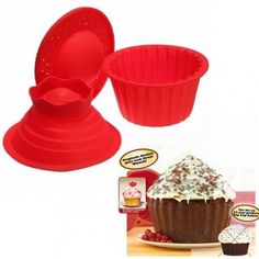 Big Top Cupcake Pan Giant Silicone Molds Baking Set *** Continue to the product at the image link. (This is an affiliate link) Silicone Cupcake Molds, Silicone Bakeware, Baking Party, Baking Set, Baking Cakes, Big Top Cupcake, Cheap Birthday Gifts, Bakers Kitchen, Baking Supplies