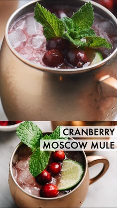 This cranberry moscow mule is perfectly sweet-and-tart, festively hued, and a must-make seasonal cocktail for all of your holiday gatherings! Christmas Brunch, Christmas Drinks, Christmas Cocktail Party, Christmas Party Food, Christmas Christmas, Fun Drinks, Yummy Drinks, Alcoholic Drinks, Party Drinks