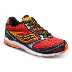 Saucony Guide 8 in Red/Black/Orange. #boysrunningshoes #boysshoes #sauconyguide