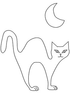 black cat coloring page coloring home - Halloween Black Cat Coloring Page