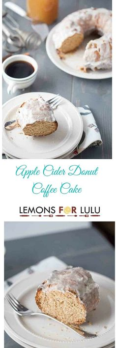 Enjoy all of autumns finest right here in this easy coffee cake recipe. Apple cider, cinnamon and spice make this cake taste spectacular. It is soft and tender and covered in a perfect apple cider glaze! lemonsforlulu.com