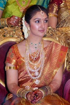 saree jewellery sridevi wedding