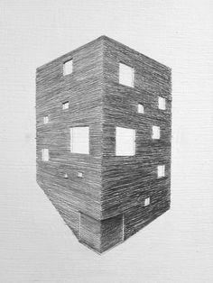 Image 1 of 25 from gallery of Gago House / Pezo von Ellrichshausen. Photograph by Cristobal Palma / Estudio Palma Architecture Drawings, Architecture Details, Square Floor Plans, Pezo Von Ellrichshausen, Sketches Of People, Arch Model, Sketchbook Drawings, Art Graphique, Planer