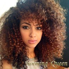 black curly hair with blonde highlights - Google Search