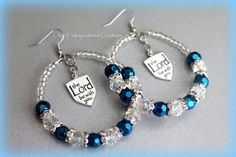 Blue and crystal the Lord be with You Hoop by CICinspireme on Etsy, $20.00