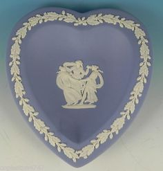 I have this cute blue & white heart Wedgewood dish.
